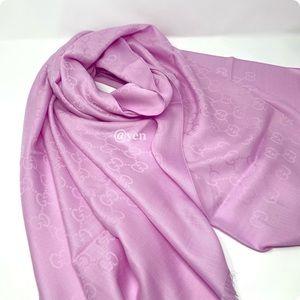 Gucci pink GGnat plus scarf